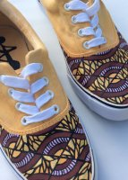 chaussure wax - african prints speakers