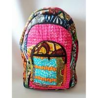 sac à dos wax - african bag pack